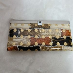 Vintage clutch wallet  with coin and card section